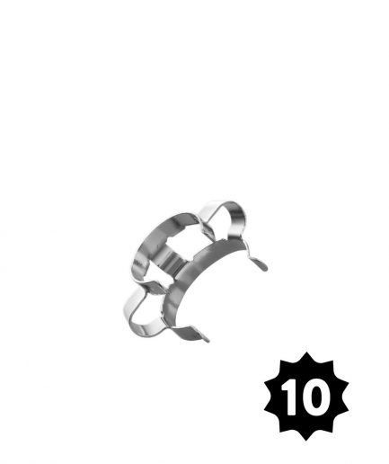 14mm Steel Clamp - Silver - Pack of 10