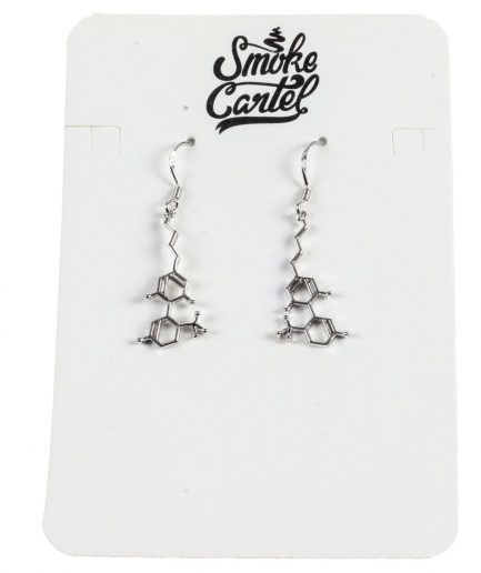 Smoke Cartel THC Molecule Earrings