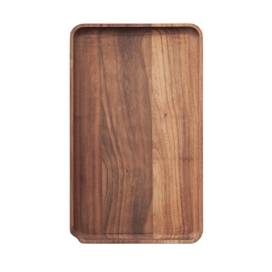 MARLEY NATURAL BLACK WALNUT ROLLING TRAY
