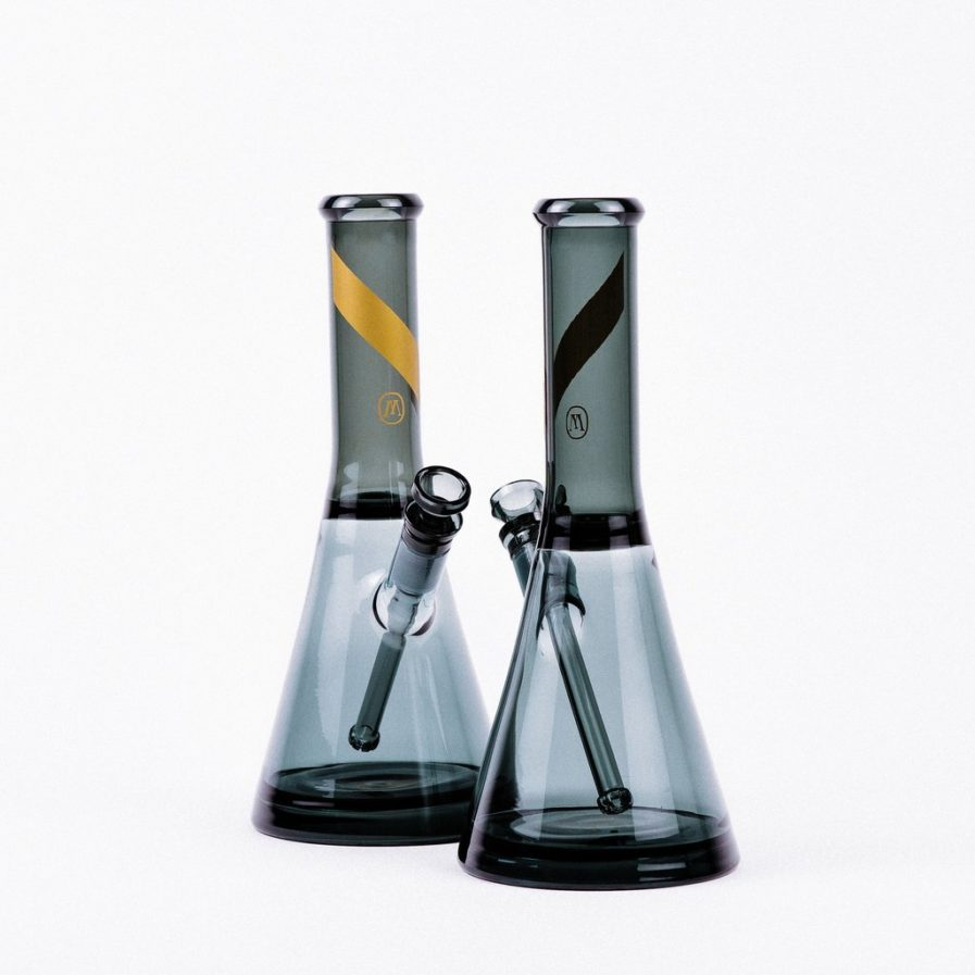SMOKED GLASS WATER PIPE