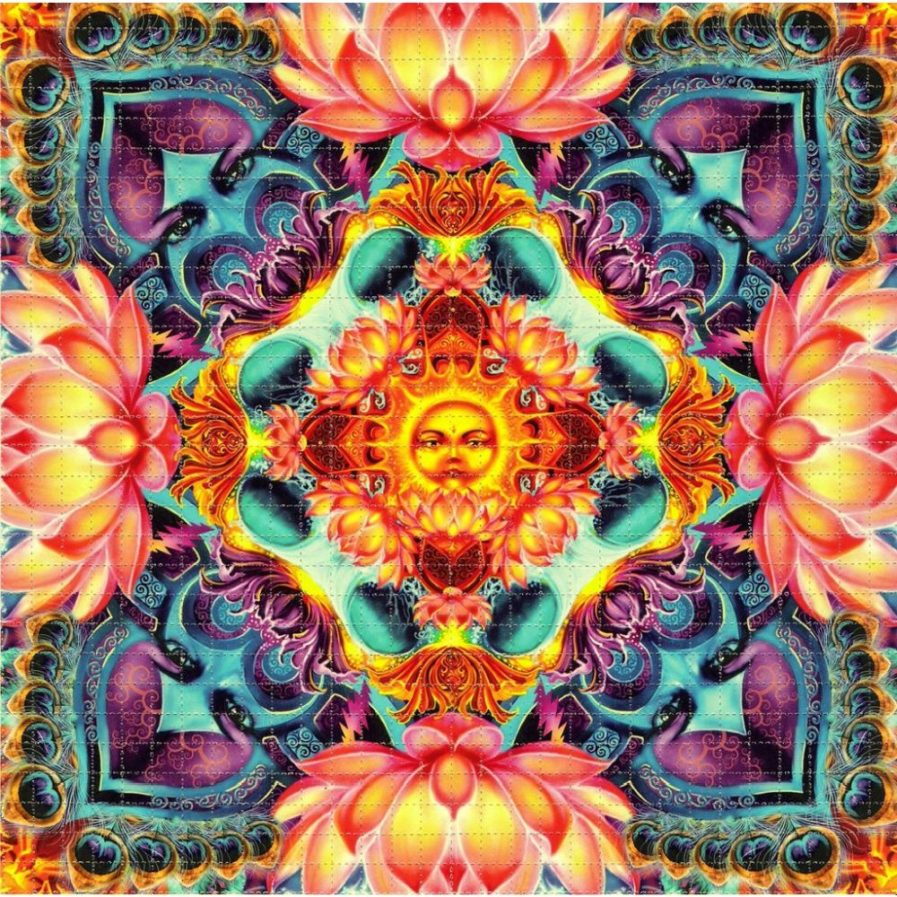 Richard Biffle Lotus Mandala Blotter Art