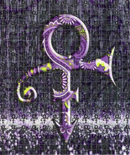 Purple Rain Blotter Art