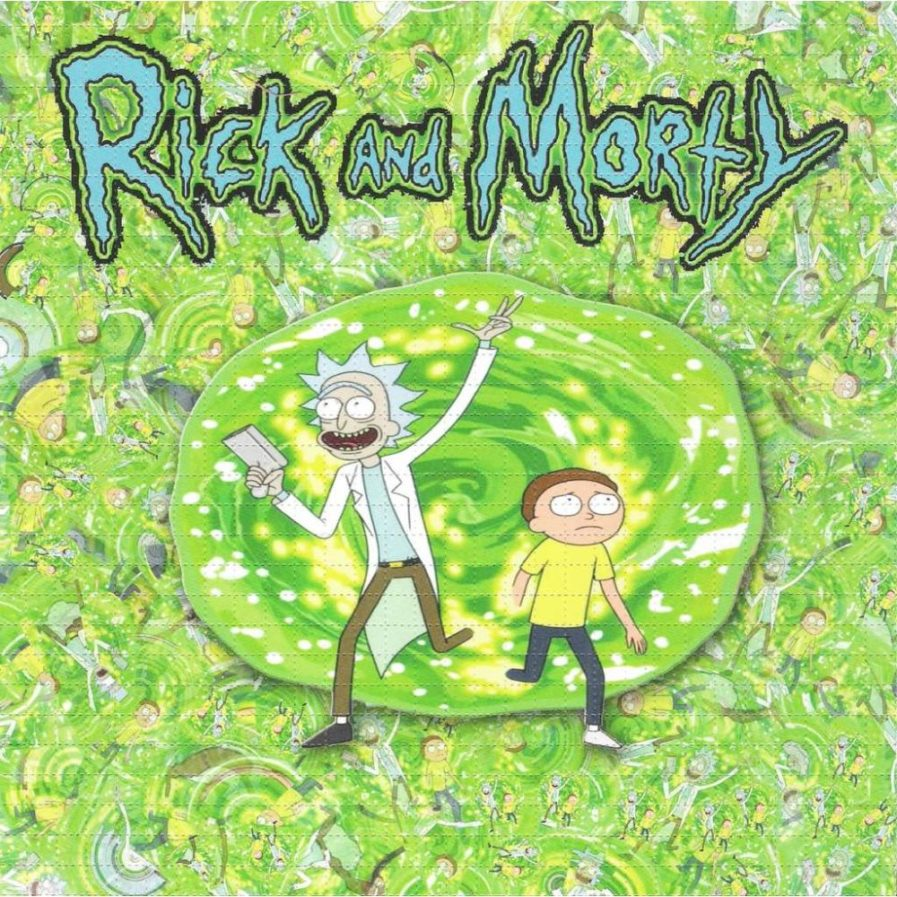 Rick and Morty Wormhole Blotter Art