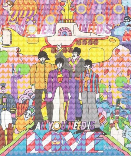 All You Need Is Love Yellow Submarine Beatles Blotter Art